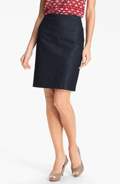 awesome in denim, would be soooo versatile Halogen Stretch Woven Skirt | Nordstrom