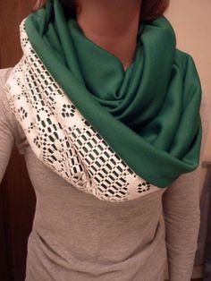DIY Clothes DIY Refashion: Lace Infinity Scarf Tutorial