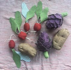 Radishes, russets, and artichokes. -SCB