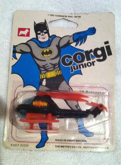 1966 Batman 1976 batmobile corgi jr junior on card old toy vintage copter helico | eBay