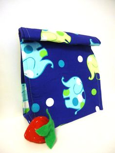 Reusable Lunch Bag or Box Lunch Buddie Blue and by TheGreenHaven, $20.00