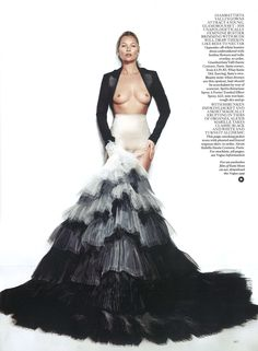 Kate Moss wears Alexis Mabille Haute Couture Spring-Summer 2013 in May issue of Vogue UK.