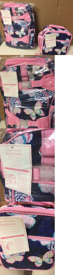 Backpacks and Bags 57882: Pottery Barn Kids Mackenzie Small Backpack Classic Lunch Bag Navy Pink Butterfly -> BUY IT NOW ONLY: $52.76 on eBay!
