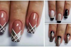3 UNHAS DECORADAS PARA INICIANTES SUPER FÁCEIS DE FAZER Fun Nails, Nail Designs, Projects To Try, Nail Polish, Nail Art, Makeup, Amazing Nails, Manicures, Gardening