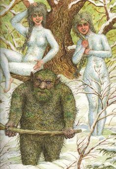 Гаёвы дзед и Гаёвки (внучки гаёвого деда, лешего). Wood spirits