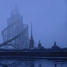 St. Petersburg with Tatlin's Monument to the Third International, eerie looking but cool