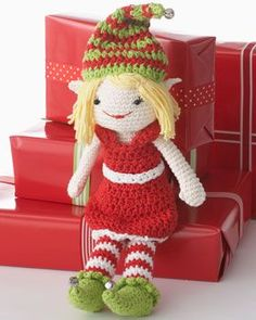 Crochet Christmas Elf.