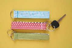 Cool Crafts  You Can Make With Fabric Scraps - Super Easy Lanyard and Key Chain Wristlet - Creative DIY Sewing Projects and Things to Do With Leftover Fabric and Even Old Clothes That Are Too Small - Ideas, Tutorials and Patterns http://diyjoy.com/diy-crafts-leftover-fabric-scraps