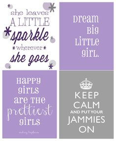 purple and gray nursery | ... nursery with all of the great free fonts I downloaded. Here's a few