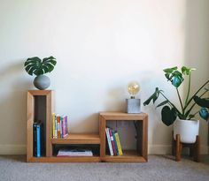 Bookshelf/ Furniture / Customized furniture / Reclaimed wooden furniture / Victorian ash by FabianaLoschi on Etsy Pine Timber, Wooden Vase, Contemporary Interior Design, Wooden Furniture, Bookshelves, Wall Decor, Indoor, Propagation, Ash