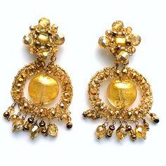 Boucles d'oreille KETIKO à perles de Murano : Boucles d'oreille par ketiko
