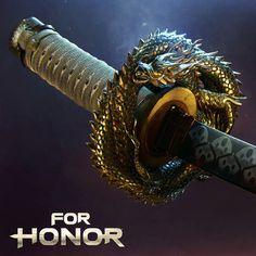 For Honor Cinematics - Emperors Katana, Vladimir Somov Robot Concept Art, Concept Weapons, Ninja Weapons, Weapons Guns, Katana, For Honor Characters, Black Panther 1, Combat Suit, 3d Sketch