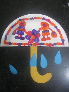 Paraplu van half bord