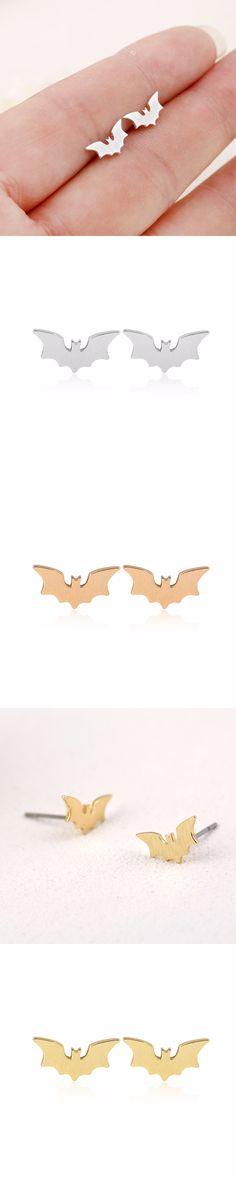 Jisensp 2017 Fashion Minimalist Batman Stud Earrings Female Punk Earrings for Women Best Gift brincos boucle d'oreille femme