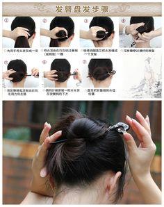 hairstick updo tutorial