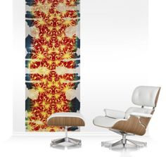 Accent Murals of Architectural floral by Texprint (1000mm x 2400mm)   Shop   Surface View