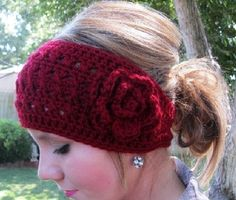 Crochet Headband...make it brown or something for hunting lol
