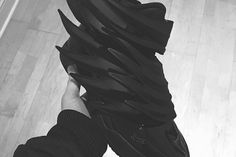 """Image of A First Look at the Jeremy Scott x adidas Originals JS Wings """"Dark Knight"""""""