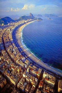 Praia de Copacabana, Rio de Janeiro, Brasil.