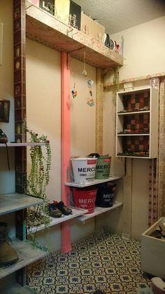 玄関の靴箱をディアオールとmtcasa,decolfaのマスキングテープでポップに仕上げました!