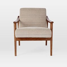 Mid-Century Show Wood Upholstered Chair | west elm: