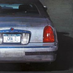 "François Bard, Parking, 2013, Oil on Canvas, 51"" x 51"" #Art #Contemporary #Painting #BDG #BDGNY #Car"