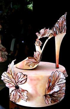 Elie Saab Inspired Sugar Stiletto Cake