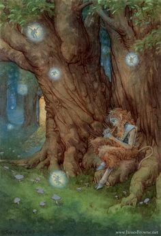 Satyr, Song of Everland -James Browne Fairy Land, Fairy Tales, Art Rupestre, Creation Photo, Digital Ink, James Brown, Magical Creatures, Curious Creatures, Enchanted