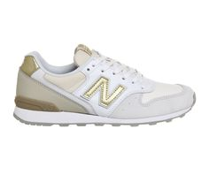 Buy White Gold New Balance Wl996 from OFFICE.co.uk.