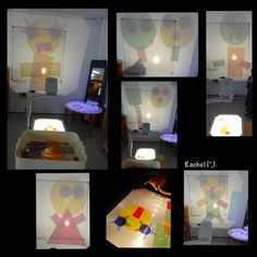 "Laminated cellophane shapes on the OHP from Rachel ("",) Motor Skills Activities, Fine Motor Skills, Early Years Classroom, Fun At Work, Eyfs, Reggio, Light Table, Art Education, Cellophane"