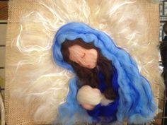 Il mondo della lana fiaba e cardata the world of fairy and carded wool: Quadri in lana cardata e fiaba, paintings in fairy...
