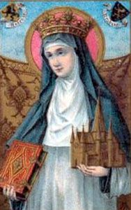 Saint Begga. (615 – 17 December 693) After the death of her husband, she founded seven churches  and built a convent, where she spent her days as an abbess. According to Wikipedia, she is a direct ancestor of the modern British royal family. #royals #saints #nuns