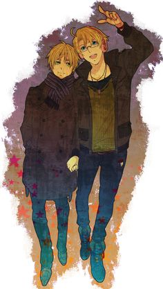 USUK! <3 Don't judge me, I just love these two together. I think they are adorable, while FRUK, well, that's just creepy.