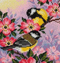 Small Cross Stitch, Cute Cross Stitch, Cross Stitch Heart, Beaded Cross Stitch, Bird Embroidery, Cross Stitch Embroidery, Embroidery Patterns, Modern Cross Stitch Patterns, Cross Stitch Designs