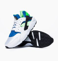 Basket Nike Air Huarache Og Scream Green Blanc 45