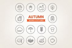 Collection of circle autumn icons Vector files included. So, you can scale icons without loosing quality, change colors, mix them together. Perfect for your blog, website, flyers or labels -