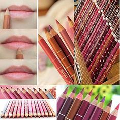 Aoohe 12 Colors Lipliner Waterproof Lip Liner Pencil Makeup Set -- Check this awesome product by going to the link at the image. Note:It is Affiliate Link to Amazon.