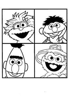 Print Rosita, Ernie, Bert en Tommy kleurplaat