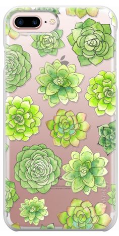Casetify Protective iPhone 7 Plus Case and iPhone 7 Cases. Other Plant iPhone Covers -  Succulent Pattern by Sara Eshak | Casetify