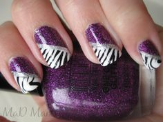 purple and zebra, not really my style but if I can manage even 1/8th of this design it would be pretty impressive.  Admit it.