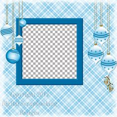 """Layout QP 23B.....Quick Page, Blue, Digital Scrapbooking, Christmas Time Collection, 12"""" x 12"""", 300 dpi, PNG File Format"""