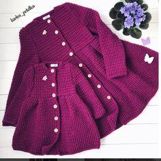 Photo from album - Her Crochet Crochet Baby Sweaters, Crochet Coat, Crochet Baby Clothes, Crochet Jacket, Crochet Cardigan, Baby Knitting, Baby Girl Crochet, Newborn Crochet, Cute Toddler Girl Clothes