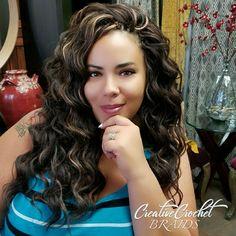 Kima Braid – Ocean Wave - Home Curly Crochet Hair Styles, Crochet Braid Styles, Crochet Braids Hairstyles, Girl Hairstyles, Crotchet Styles, Crotchet Braids, Black Wedding Hairstyles, Braided Hairstyles For Black Women, Hot Hair Styles