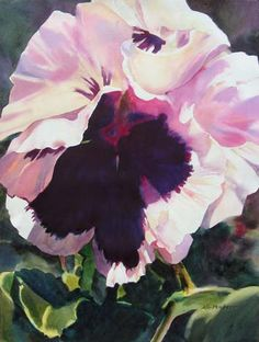 Original Watercolors by Ann Pember _ I love this painting and how Marie would have loved it too! She really loved pansies! lol!