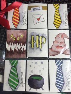 Harry potter themed Pocket letter. All hand drawn and watercolour painted...