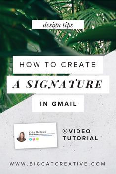Free Video Tutorial: How to Create a Professional Signature in Gmail - Easy step by step tutorial by Big Cat Creative | How to make a signature in Gmail | How to customize gmail signatures | How to add social links to your Gmail signature | How to add images to your Gmail signature | How to create an interactive Gmail signature | Gmail signature tutorial | DIY Gmail signature | Gmail signature help | Gmail signature step by step