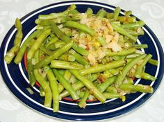 Rachael Ray s Green Beans from Food.com:   								These have become a family favorite; an easy side dish that is a quick, elegant addition to anything from the Easter spread to a weeknight meal.