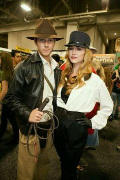 Indiana Jones costume for couples!                                                                                                                                                      More