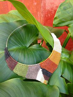 Design Macrame Necklace in V shape with por RitaPratesCaetano                                                                                                                                                      More