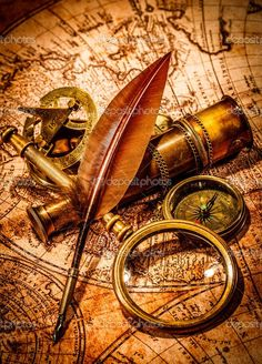 depositphotos_44972355-Vintage-magnifying-glass-lies-on-an-ancient-world-map.jpg (735×1023)